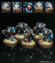 2008, I bought #assaultonblackreach, painted his first squad/ #w40k #ultramarinse #terminator (really, apart from single models in elementary school in the 1996'-98 '), I've never played but what do you think about this - dirty painting style ?? #studiolevel #colorroom