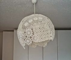 asortik.: Dantelden avize olur mu??  lace chandelier, DIY