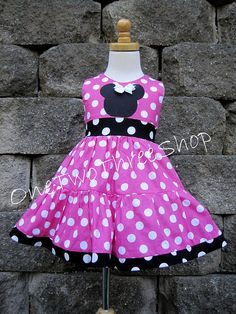 Custom Boutique Clothing Minnie Mouse Med  Pink   Sassy by amacim, $42.99