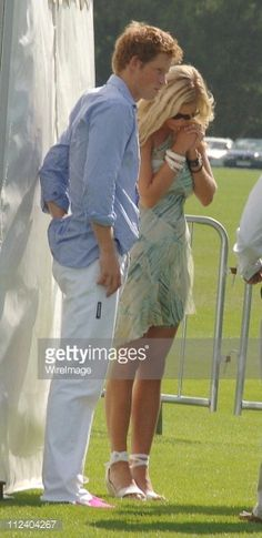 HRH Prince Harry and Chelsy Davy during Cartier International Polo - July 30, 2006 at Windsor in Windsor, Great Britain.