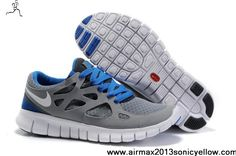 Star's favorite Mens Cool Grey White Black Varsity Royal Nike Free Run 2 443816-108 Casual shoes Shop