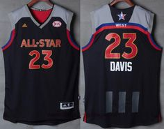 Men s Western Conference Orleans Pelicans Anthony Davis adidas Black Charcoal  2017 NBA All-Star Game Swingman Jersey 2631d229bdd