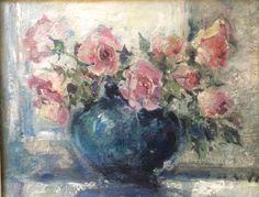 Bouquet de roses. Henri de Waroquier 1881-1970 by Albanegalery