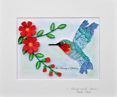 Hummingbird Dance Quilling Cards, Paper Quilling, Quilling Patterns, Quilling Ideas, Quiling Paper, Quilling Animals, Bird Feathers, Origami, Card Making