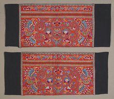 Pair of Miao Sleeve Panel Embroideries Taijiang, Guizhou.  China.