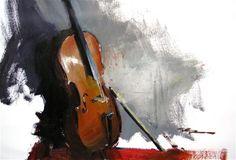 "Daily Paintworks - ""Cello"" - Original Fine Art for Sale - © Richard Robinson"