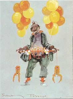 Costume sketch for the scary subway vendor in The Wiz (1978)