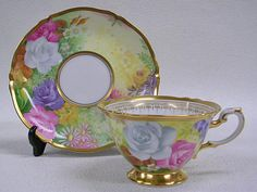 Garden cup saucer