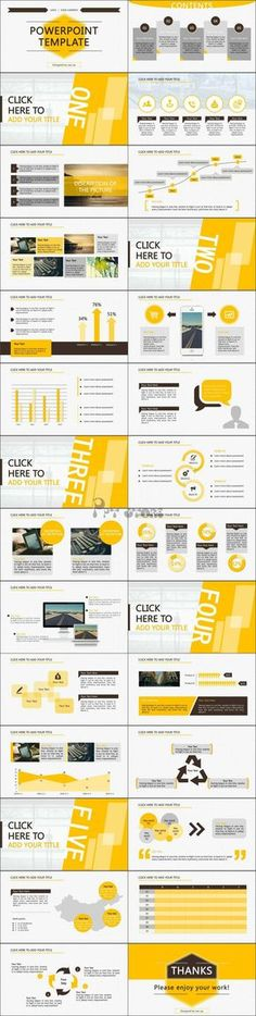 Yellow and black powerpoint template design Ppt Design, Design Brochure, Slide Design, Layout Design, Design Presentation, Business Presentation, Presentation Templates, Presentation Slides, Flyer