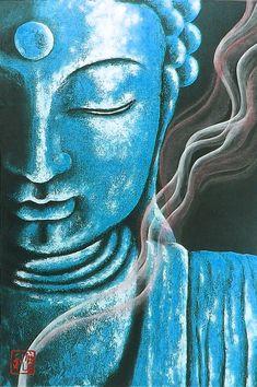 Buda Painting, Feng Shui, Buddha Zen, Indian Folk Art, Krishna Painting, Modern Art Paintings, Diy Canvas Art, Pastel Art, Psychedelic Art