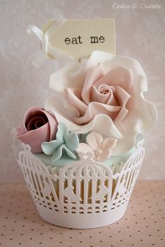 Cute birdcage wrappers by Cotton and Crumbs, via Flickr
