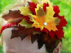 Chute des feuilles bandeau  jolies couleurs par OnceUponATimeTuTus