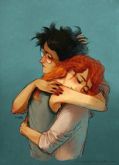 "atalienart: ""Garry and Hinny… no wait… Harry and Ginny :) """