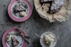 Flourless Chocolate Cake with Whipped Rosemary Cream Recipe on Food52