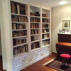 Libreria su misura laccata a mano. legnoeoltre.altervista.org