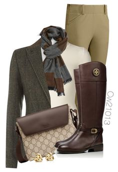 Untitled #1478 by cw21013 on Polyvore featuring polyvore, fashion, style, Emanuel Ungaro, Barbour, Tory Burch, Gucci, Blue Nile and Burberry