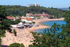 La vertiente sur de la Península de La Magdalena ofrece un magnífico panorama de la bahía de Santander. En este lado se encuentran dos de las playas santanderinas: la playa de La Magdalena y la playa de Bikini