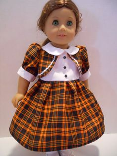 18 Inch Doll Clothes Fall Halloween Orange by DixiesDollEmporium, $28.00