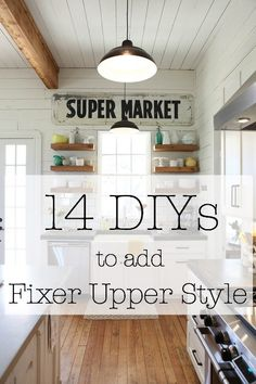 14 DIYs to add Fixer Upper Style It's no secret that Joanna Gaines has the world on a string. But you don't need to be a guest on the HGTV show to get the look! Here are 14 #diy projects to bring the #farmhouse style to your home
