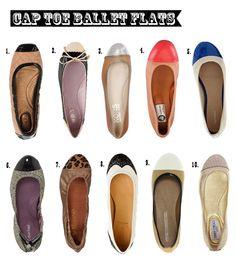 Cap Toe Ballet Flats | Glitter, Inc.