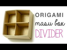 Origami Masu Box Divider - YouTube