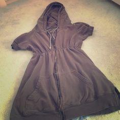 Juicy empire waist short sleeve hoodie Juicy empire waist short sleeve hoodie 🚫no trades🚫 Juicy Couture Tops Sweatshirts & Hoodies