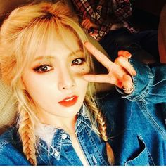 Hyuna Roll Deep bair braided blonge
