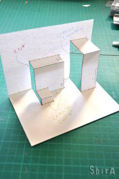 way to make pop up card (asymmetric-box-fold)