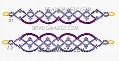 Free pattern for bracelet Azora