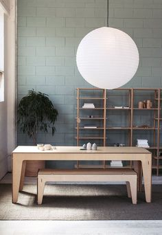 Modern plywood table and shelving by Plyroom. Get down (under) with 18 Inpsiring Australian Designers and Artists #australiandesign #australia #designinspiration #plywood