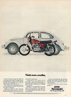 Kawasaki KZ-400 Ad - Look at the price of the bike!!!!
