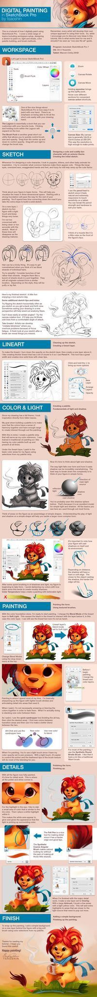The image is HUGE so give it a little bit to load. The folks at autodesk-sketchbook commissioned this tutorial covering how I digitally paint. This is my compete process from start to finish ...