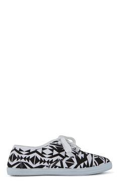SugarPair Black Aztec Print Low Top Sneakers $8.00