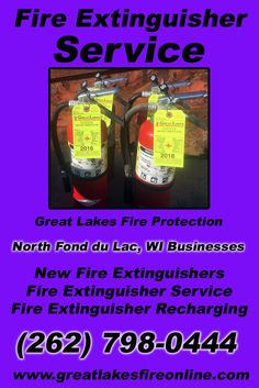 Fire Extinguisher Service North Fond du Lac, WI (262) 798-0444 This is Great Lakes Fire Protection.  Call us Today for all your Fire Protection needs!Experts are standing by...