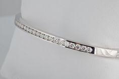 bashinski.com - Product - Bracelets - Channel Set Diamond Bangle ...
