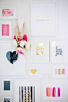 13 INSPIRATIONAL GALLERY WALL ideas - Come and get inspired. Fabulous gallery wall round up.