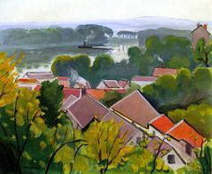 Red Roofs at Saint-Tropez, by Albert Marquet