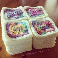 Crochet Granny Square Patterns TIGHT GRANNY SQUARE TUTORIAL It seems a good few weeks now since the first excitement of starting my colourful crofter squares. They have now been edged and joine. Crochet Afghans, Crochet Motifs, Crochet Blanket Patterns, Crochet Stitches, Crochet Blankets, Crochet Cushions, Crochet Pillow, Afghan Patterns, Baby Patterns