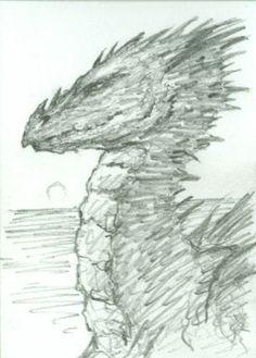 DRAGON original fantasy art, ACEO