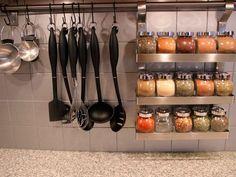 75 Small Apartment Kitchen Decorating Ideas - Own Kitchen Pantry Kitchen Utensil Storage, Ikea Storage, Kitchen Pantry, Kitchen Utensils, Diy Kitchen, Kitchen Dining, Kitchen Small, Storage Ideas, Storage Rack