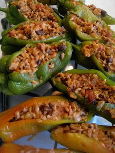 Chili Relleno, Stuffed Anaheim Pepper recipe! Will be trying this soon with my peppers from the garden :)