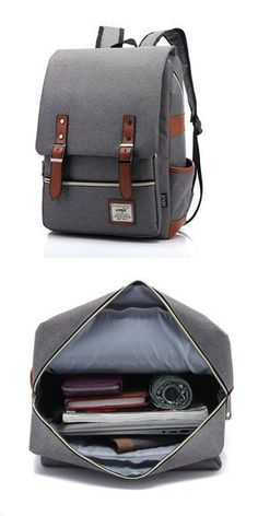 Cheap Retro Large Travel Backpack Leisure Leather Canvas Backpack School Bag For Big Sale! Lace Backpack, Canvas Backpack, Travel Backpack, Backpack Bags, Tote Bag, Crossbody Bags, Messenger Bags, Men's Backpacks, School Backpacks