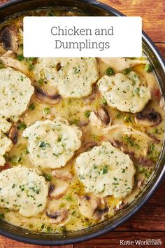 Chicken and Dumplings Recipe / Fluffy yet toothsome dumplings are nestled into a saucy, creamy blend of chicken and vegetables.#easyrecipes #quickmeals #familyfriendly #healthy #chickendinner Dumpling Dough, Dumpling Recipe, Chicken And Dumplins, Homemade Chicken And Dumplings, Creamy Sauce, Chicken Casserole, Chicken And Vegetables, Recipe Collection, Quick Meals