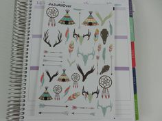 Hey, I found this really awesome Etsy listing at https://www.etsy.com/listing/267799243/tribal-decoration-stickers-sheet