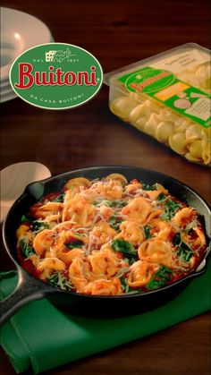 Treat your family to this delicious One Skillet Tortellini Marinara from Buitoni, the easy weeknight meal everyone will love! Tortellini Recipes, Easy Pasta Recipes, Dinner Recipes, Breakfast Recipes, Easy Weeknight Meals, Quick Meals, Whole Food Recipes, Cooking Recipes, Cake Recipes