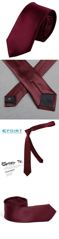 PS1014 Handsome Gift Giving Red Solid Silk Skinny Ties Anniversary Gift Box Set Comfort Presents By Epoint
