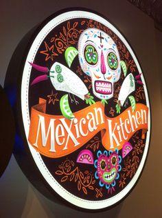Mexican Burrito Bar Mural by Steve Simpson, via Behance