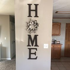 Home Interior Farmhouse .Home Interior Farmhouse Easy Home Decor, Farmhouse Decor Living Room, Home Living Room, Farm House Living Room, Decorative Letters, Family Wall Decor, Home Remodeling, Home Decor, Home Signs