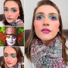 Especial: Maquiagem artística. Inspiração: Chapeleiro. #makeup #makeupartist #maquiagem #maquiagemartistica #chapeleiro #alice #### # #⏱ #