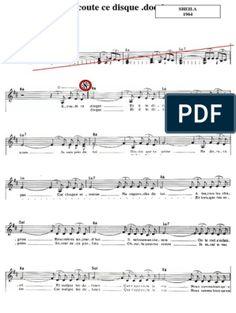Les Mots Bleus - Christophe.pdf Saxophone, Sheet Music, Math Equations, Words, Reading, Music, Saxophones, Music Sheets